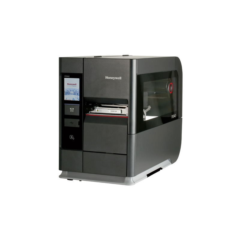 Imprimanta de etichete Honeywell  PX940 fara verificator, ecran touch, sistem de operare universal,  Ethernet, USB, Serial (RS-232), BT, Ribbon Ink IN/OUT, Media Core 3 inch, DTsi TT, 203DPI, Fără cablu de alimentare.