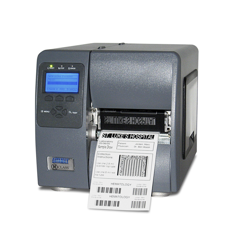 M-4206 - 4inch-203 DPI, 6 IPS, Printer with Graphic Display, DT, 220v: EU and GB Plug, Fixed Media Hanger