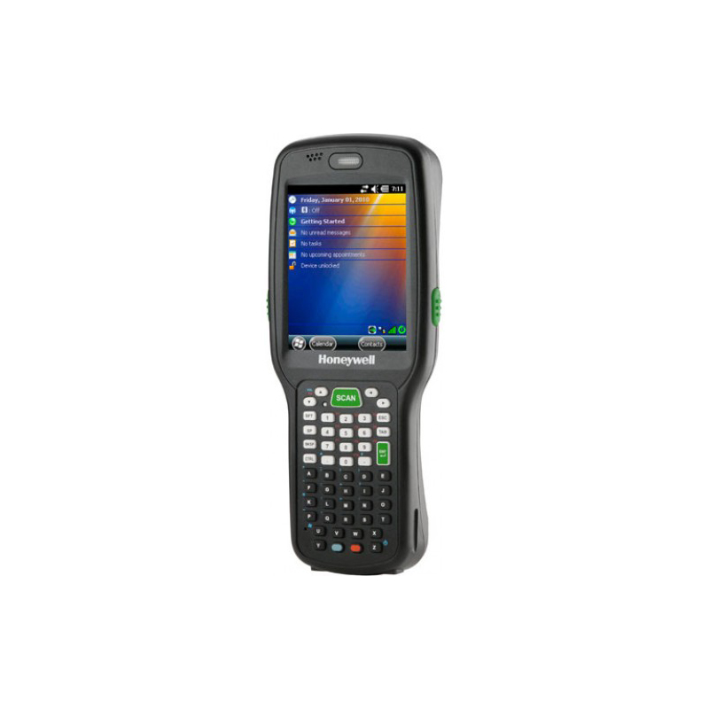 WLAN and WPAN (802.11 a/b/g/n and Bluetooth®) / 5603SR Imager with high-vis aiming pattern / 28 key / 512MB RAM x 1GB Flash / Windows® CE 6.0 / 3300 mAh battery / Power Adaptor / Handstrap / Stylus